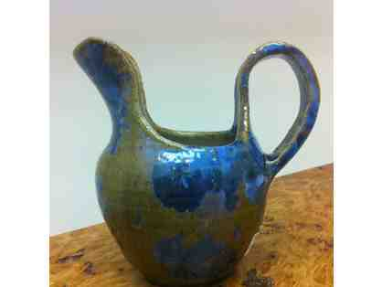 A pitcher by artist Michelle Morrell from Juneau Artists Gallery