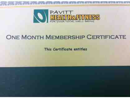 1 Month Membership to Pavitt Health & Fitness