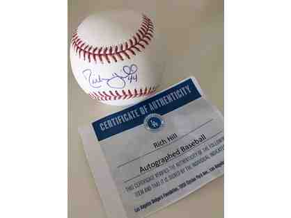 Dodger Rich Hill Autographed Baseball (P)