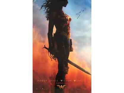Gal Gadot Autographed Wonder Woman Movie Poster (P)