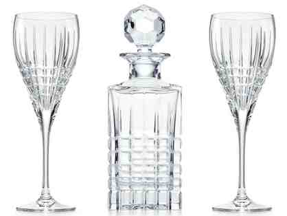 Tiffany & Co. Crystal Wine Decanter & Wine Glasses