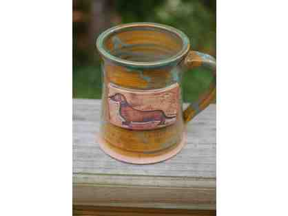 Handcrafted Dachshund Mug by Applewood Pottery