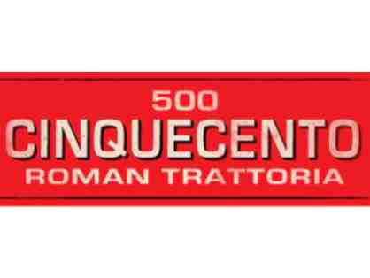 $100 gift certificate to Cinquecento Restaurant in Boston