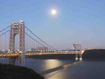 George Washington Bridge in Moonlight