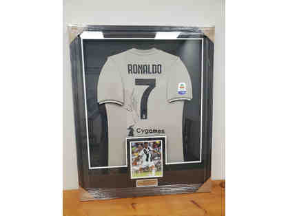 Autographed Cristiano Ronaldo Juventus F.C 2018-2019 Jersey Framed