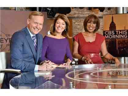 "Four People can ""Meet and Greet"" the On-Air Anchors of CBS This Morning!"