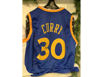 Stephen Curry Autographed Jersey - Authentic