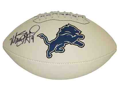 Matthew Stafford AUTOGRAPHED White Detroit Lions Football