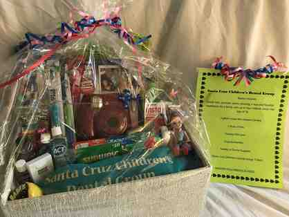 Gift basket and dental services from Santa Cruz Children's Dental Group