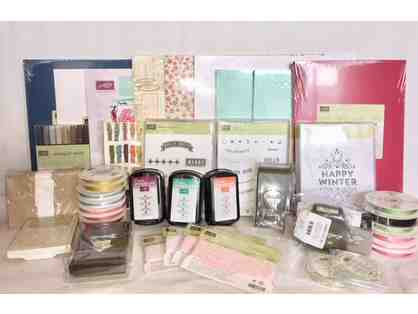 Array of Stampin Up Card, Scrapbooking, and Craft Making Supplies