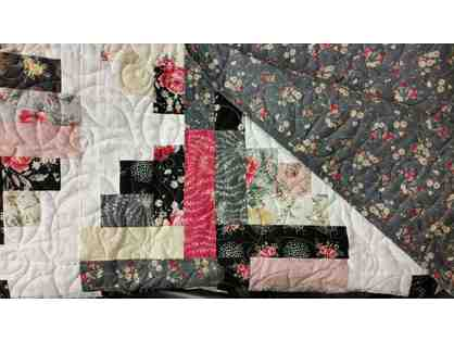Handmade Twin Plus Size Quilt-courtesy Miriam Catapano & Angele LePage