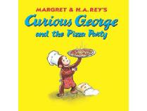 "Curious George and the Pizza Party ""signed"" by a Helping Hands Monkey!"