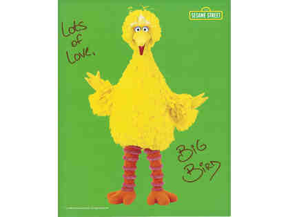Autographed Photo and Feather from Big Bird
