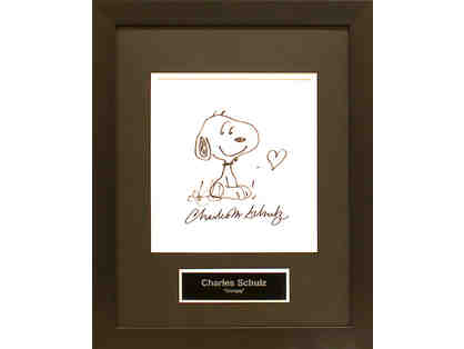 Charles Schultz Incredibly Rare Hand Drawn Sketch: Snoopy