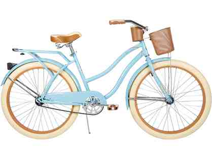 "Huffy 26"" Nel Lusso Women's Cruiser Bike with Dreamweaver Art coasters"