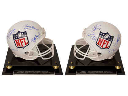 """NFL Quarterback Icons Official Full Size NFL Helmet"" Autographed by 8 Greatest QBs"
