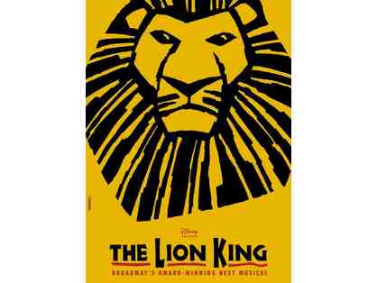 2 Tickets Disney's Lion King Stranahan Theater