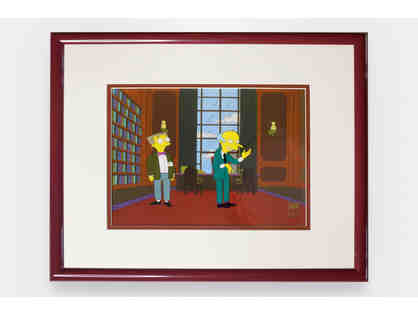 Framed Original Cel of The Simpsons Signed by Harry Shearer