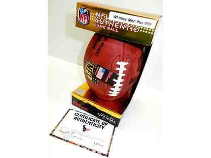 Signed NFL Authentic Game Ball