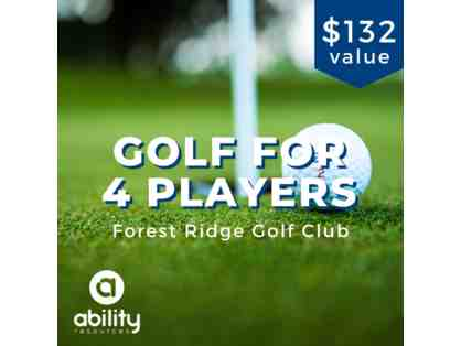 1 Round of Golf for 4 Players at Forest Ridge Golf Club