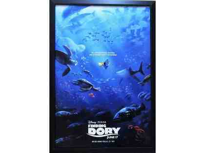 Finding Dory movie poster professionally cutom framed, ready to hang
