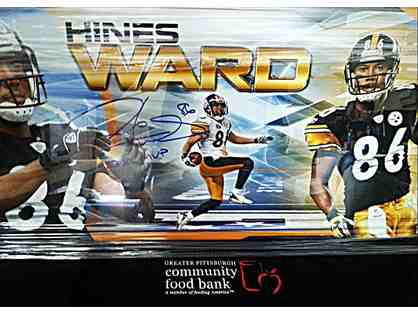 Hines Ward Signed Panoramic Framed Picture