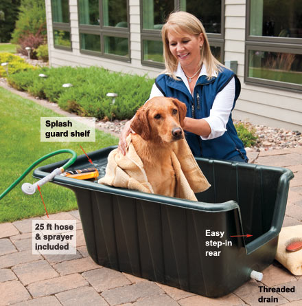 Scrub A Dub Dog Tub With Sprayer