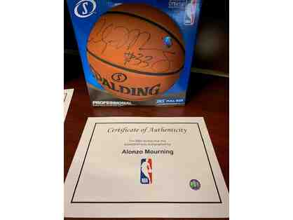 Autographed Alonzo Mourning Basketball