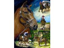 "Seabiscuit Life Story Montage, Pat Duggan, 16"" x 24"" Limited Edition Giclée"