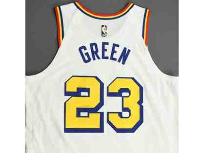 "Golden State Warriors ""San Francisco"" Jersey Autographed by Draymond Green"