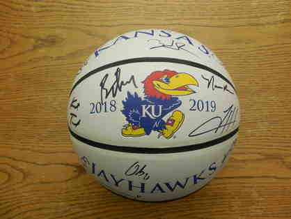 2018-2019 KU Men's Autographed Basketball