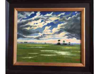 """Marsh with Backlit Clouds"" by Cisco Lindsey"