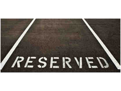 Reserved Back Car Line Parking