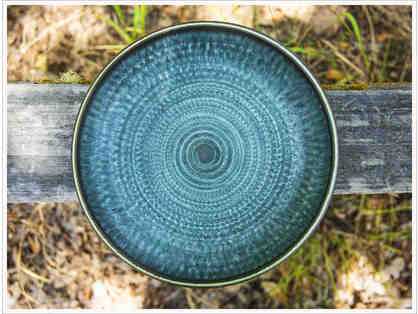 Blue Stoneware Bowl by Harrison Mcintosh