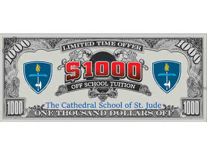 THREE Raffle Tickets: $1,000 OFF next year's TUITION!