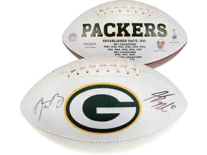Green Bay Packers Aaron Rodgers & Jordy Nelson Autographed Football