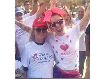 0n Fleek! Miley Cyrus's SIGNED T-Shirt Worn for 2015 Walk to Defeat ALS