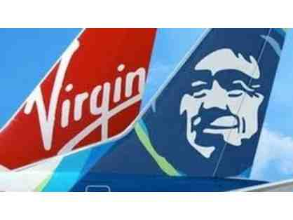 Alaska Airlines/ Virgin America- 2 Round Trip tickets on Alaska Airlines or Virgin America