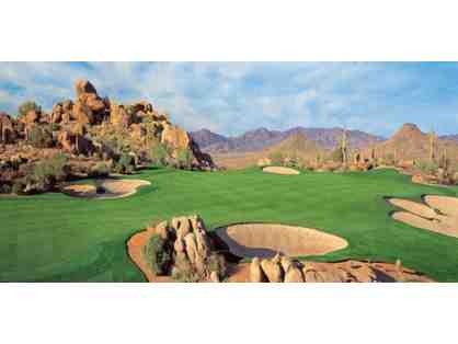 Troon North Golf Club in Scottsdale, Golf for four