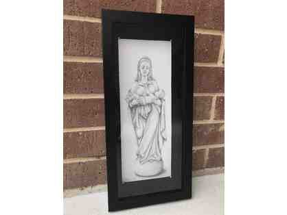 Virgin Mary Drawing by Mother Lissie