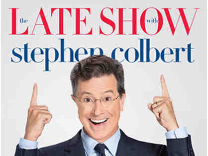 Enjoy a live taping with two VIP tickets to The Late Show with Stephen Colbert!