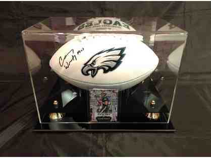 Carson Wentz Autographed Philadelphia Eagles Football