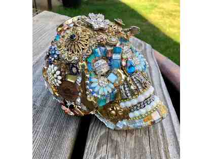 CRAFT: Jeweled Mosaic Skull by Pamela Gregory