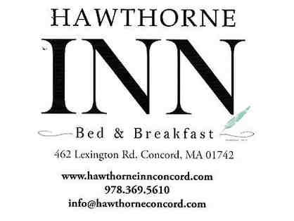 Hawthorne Inn Bed & Breakfast, Concord, MA (One night stay with breakfast, for two)