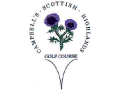 Certificate for a Weekday Round of Golf (9 or 18 holes) at Campbell's Scottish Highlands