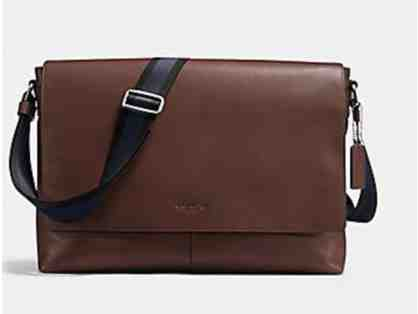 COACH CHARLES MESSENGER IN SMOOTH LEATHER - MAHOGANY