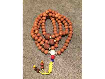 Phoenix Eye Bodhi Seed Mala with Vintage Spacers, Blessed by Dudjom Yangsi Rinpoche