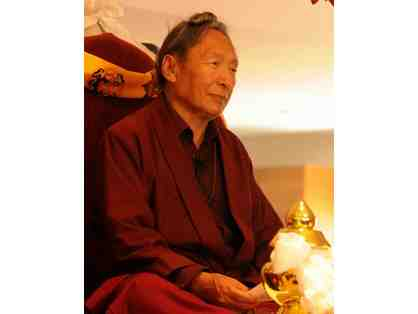 Golden Treasure Vase Consecrated by Lama Tharchin Rinpoche