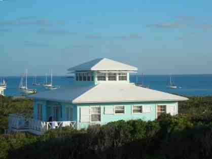 One week stay at a beach house in the Bahamas