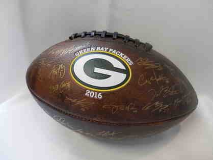 Football signed by 2016 Green Bay Packers